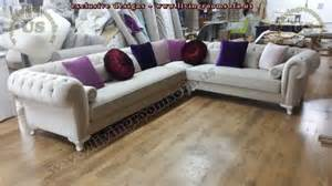 l shaped sofa velvet chesterfield style corner sofa purple modern interior design