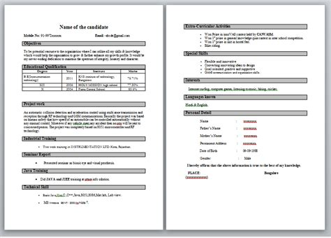 How To Make A Effective Resume For Freshers by Engineer S
