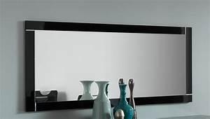 miroir de salle a manger rectangulaire 140 cm laque noir With miroir de salle a manger rectangulaire