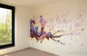 trompe l oeil mural interieur 7 fresque disney f233e clochette et pr233nom norah spitpod