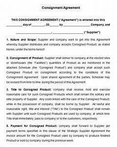 Consignment contract template 7 free word pdf for Consignment shop contract template