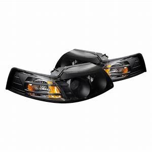 CG® - Ford Mustang 2002 Black Projector Headlights