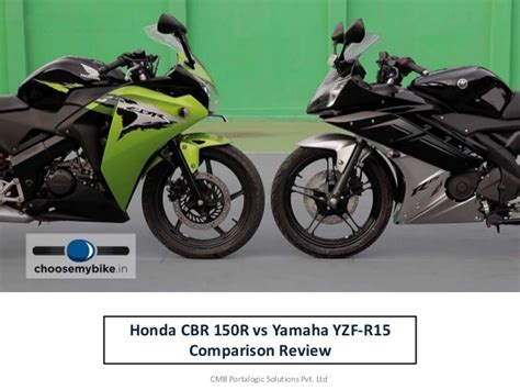 Cb 150r And Yamaha R15 by Compare Yamaha R15 Vs Honda Cbr 150 Review At Choosemybike In