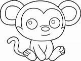 Coloring Pages Easy Monkeys Hard Printable Monkey Simple Sheet Fun Activity Animal Educativeprintable sketch template