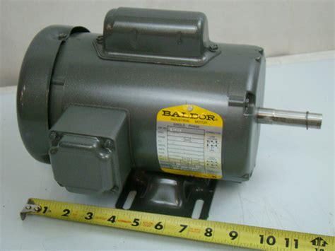 Baldor 1/2 HP Single Phase Electric Motor 115/208-230v 56 ...