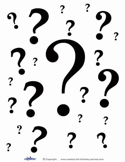 Birthday Party Question Marks Questions Printable