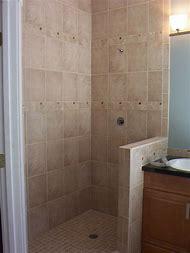 Small Bathroom Shower Half Wall