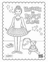 Dance Ballet Coloring Class Printable Ballerina Sleeping Sheets Colouring Beauty Recital Tap Dancing Teach Dancers Dancer Crafts Moms Positions Camp sketch template