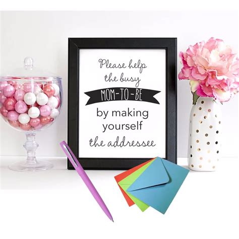 printable address request baby shower sign print  baby