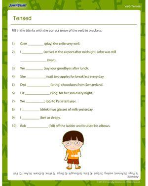 Tensed – Printable 3rd Grade Verb Tenses Worksheet– JumpStart