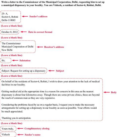 format  formal letter  english  icse