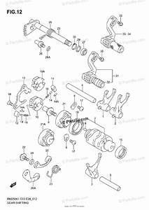 Suzuki Motorcycle 2001 Oem Parts Diagram For Gear Shifting