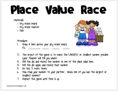 3 teacher chicks tackle it tuesday ccss place value game
