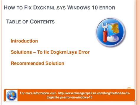 how to fix dxgkrnl sys windows 10 error