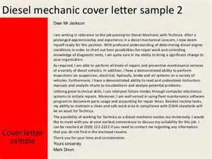 Cover Letter Mechanic Diesel Mechanic Cover Letter