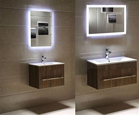 badspiegel satiniert badezimmerspiegel 90 x 60 cm