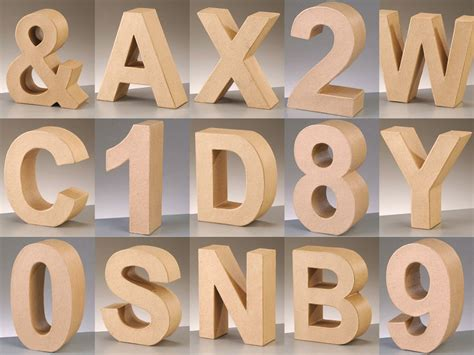 3d letters and numbers 21 diy cardboard letters guide patterns 40144