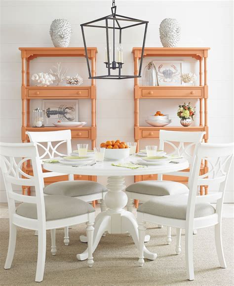 coastal dining room sets retreat saltbox white painted top pedestal dining