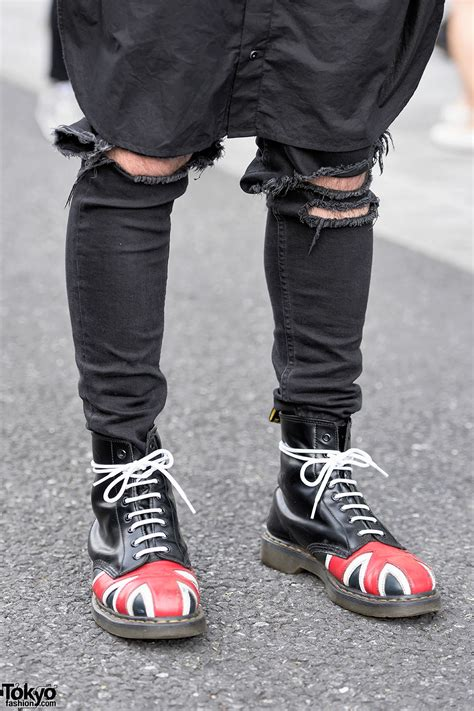 pink haired harajuku guy  comme des garcons chrome hearts