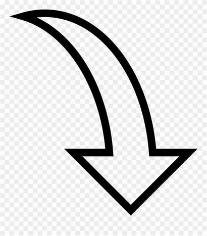 Arrow Clipart Clip Direction Uturn Curve Icon