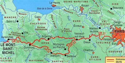 Carte Touristique Baie Du Mont Michel by Gr22 Chemin Vers Le Mont Michel Alen 231 On