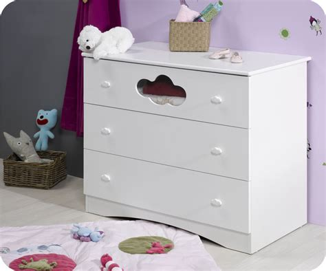 commode a langer bebe blanche