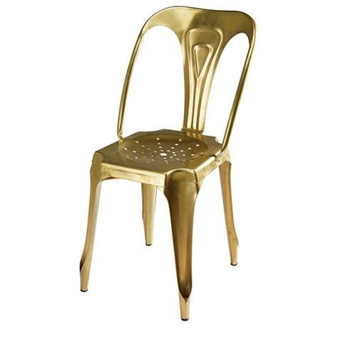 chaise indus chaise indus en métal doré multipl 39 s maisons du monde