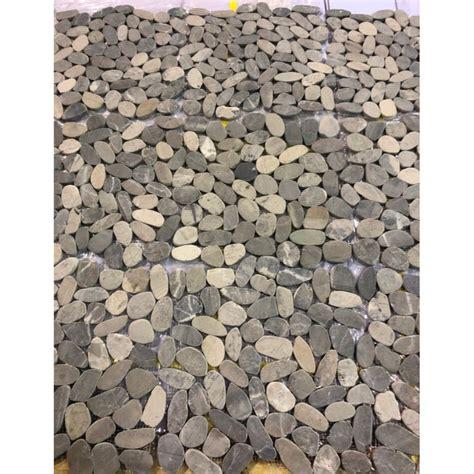Fancy Grey 12X12 Interlocking Flat Pebble Tile - Patio ...