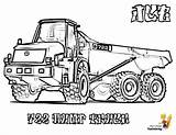 Coloring Truck Construction Pages Jcb Dump Vehicle Printable Road Yescoloring Highway John Articulated Coolest Deere Rugged sketch template