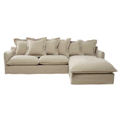 canape d angle 7 places canapé d 39 angle 7 places en lavé beige ficelle