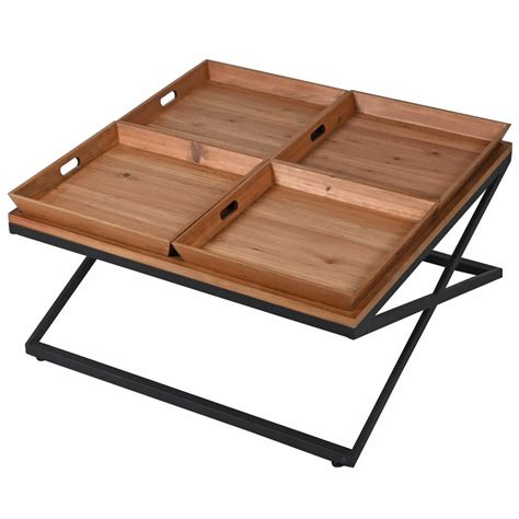Ottomans are still commonly used and easily used as a coffee table. 4 Tray Coffee Table - The Home Market