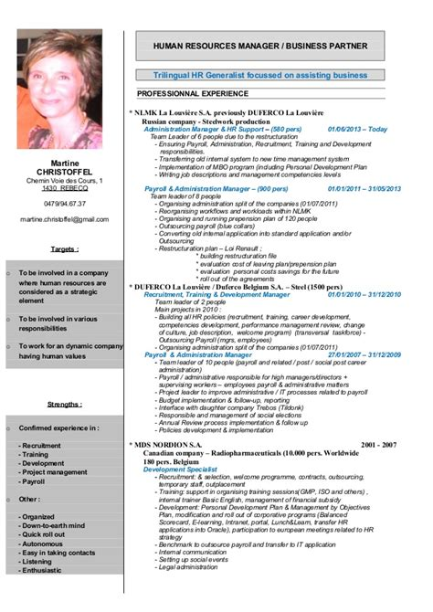 Hr Resume Sle Uk by Christoffel Martine Ress Hum Cv 2015 Uk Extend