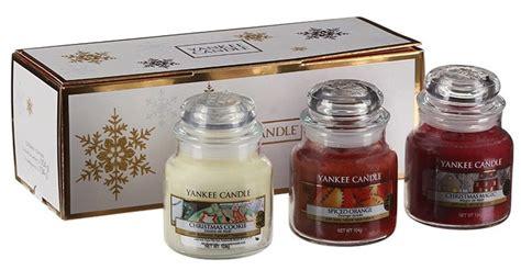 candele regalo confezione regalo natale 3 giare piccole candele yankee candle