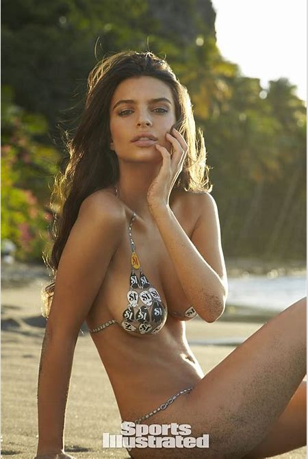 Emily Ratajkowski Swimsuit Body Paint Photos, Sports Illustrated Swimsuit 2014
