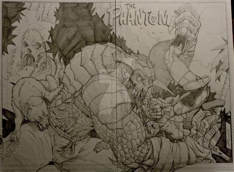 Phantom Vs Killer Croc Commission By Steelcitycustomart On