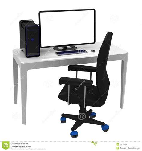 bureau travail le poste de travail bureau images libres de droits