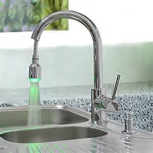 kitchen faucet images brass pull kitchen faucet with color changing led light faucetsuperdeal