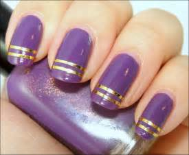 Nail polish art ideas purple flower easy designs cute pictures to pin on