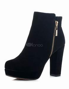 Bottine Noir A Talon : chaussures noires femmes talons ~ Nature-et-papiers.com Idées de Décoration