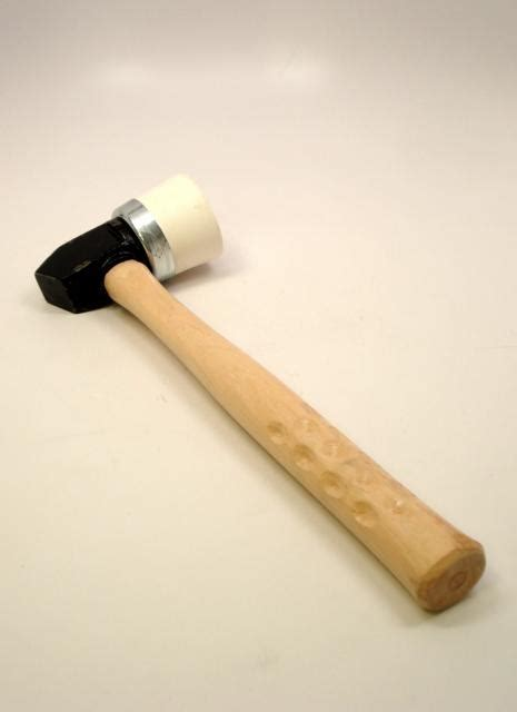 Powernail 3mi White Rubber and Metal Head Mallet Each