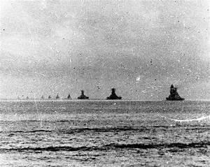 Battleship Yamato leaves Brunei Bay with the Japanese ...