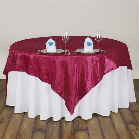 wholesale table linens for weddings 10 pcs 72x72 quot square pintuck table overlay wedding linens