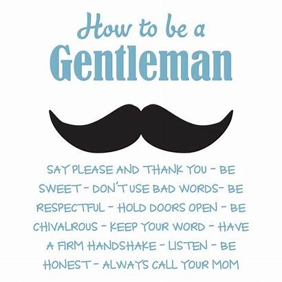 Rules Gentleman Quotes Mustache Wall Wallquotes Decal