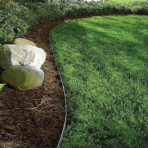 metal garden edging alternative lawn edging b rocke landscaping