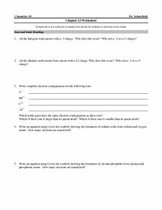 Chapter 12 Worksheet