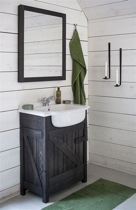 white rustic bathroom rectangle shaped small black vanity table with oval framed mirror elegant homes showcase