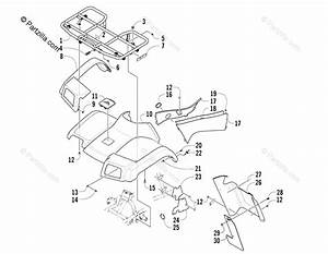 Arctic Cat Atv 2005 Oem Parts Diagram For Front Body Panel Assembly