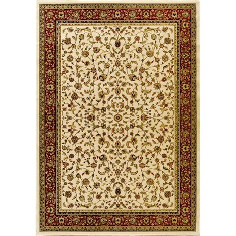 natco sapphire sarouk ivory 5 ft 3 in x 7 ft 7 in area