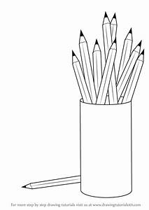 Learn How To Draw A Pencil Box With Pencils  Everyday