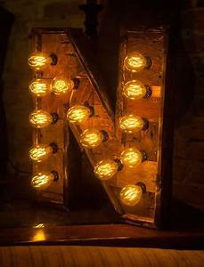 reclaimed wood marquee letters w lights shabby chic With wedding letter lights